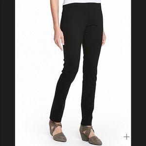 Eileen Fisher black slim ponte pants